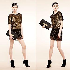 NWT Sandra Gem Sparkle Shorts